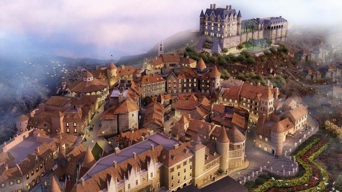 Bà Nà Hills có dáng dấp của một ngôi làng châu Âu cổ