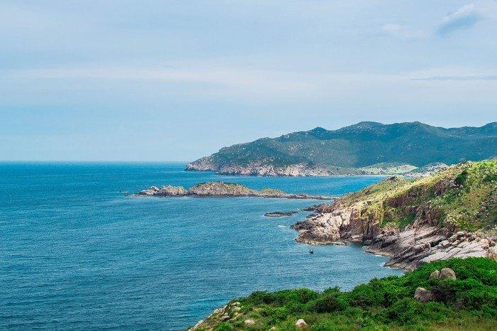 Biển xanh Vĩnh Hy đẹp mơ màng