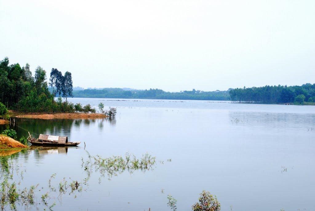 Thăm thú nơi này bằng thuyền nhỏ du ngoạn trên hồ