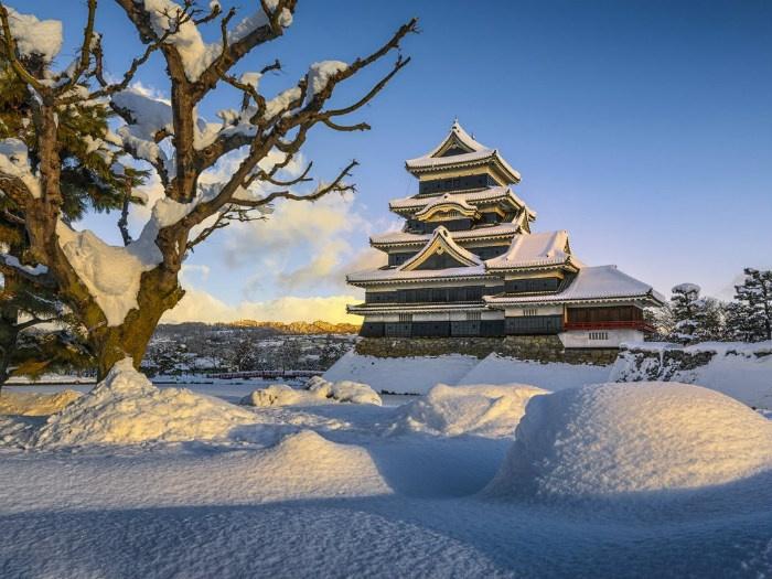 Bức tranh mùa đông thơ mộng ở Matsumoto