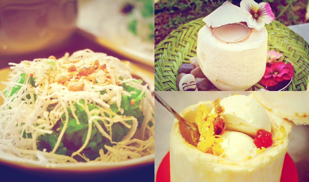 Các món ngọt hấp dẫn từ dừa