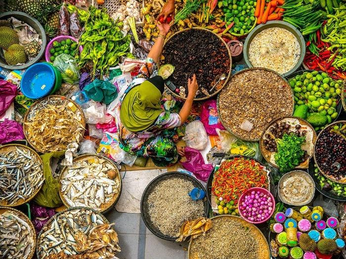 Muôn màu thực phẩm ở chợ Kota Bharu
