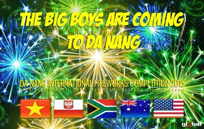 Năm đội tuyển sẽ tranh tài trong cuộc thi pháo hoa Quốc tế Đà Nẵng trong năm nay