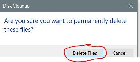 Click delete file