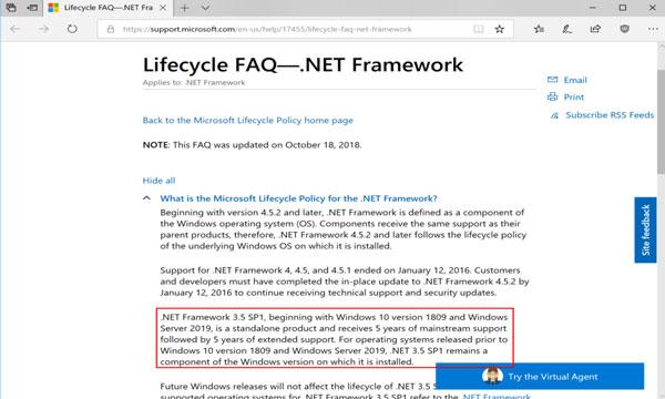 Câu hỏi Net Framework 3.5 là gì