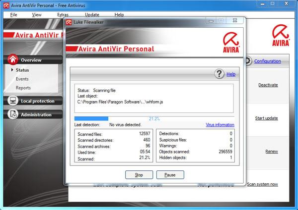 Bật các phần mềm diệt virut khác