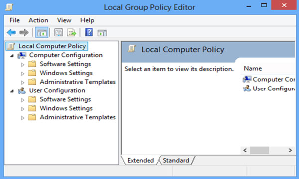 Tìm kiếm đến Computer Configuration