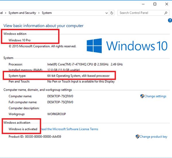 """Hiển thị """"Windows is activated"""" là máy bạn đã được kích hoạt"""