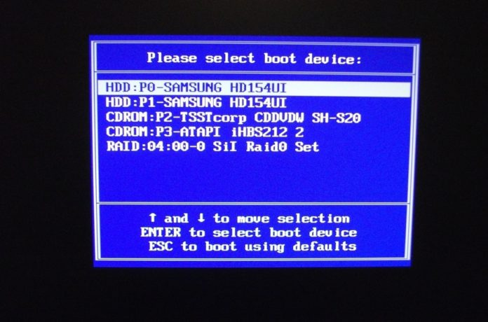Chọn HDD:P0 -SAMSUNG HD154UI