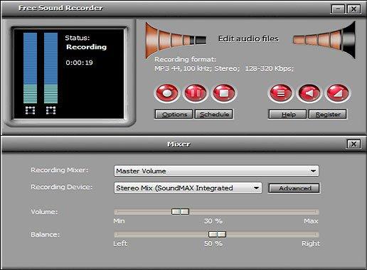 Phần mềm Free Sound Recorder