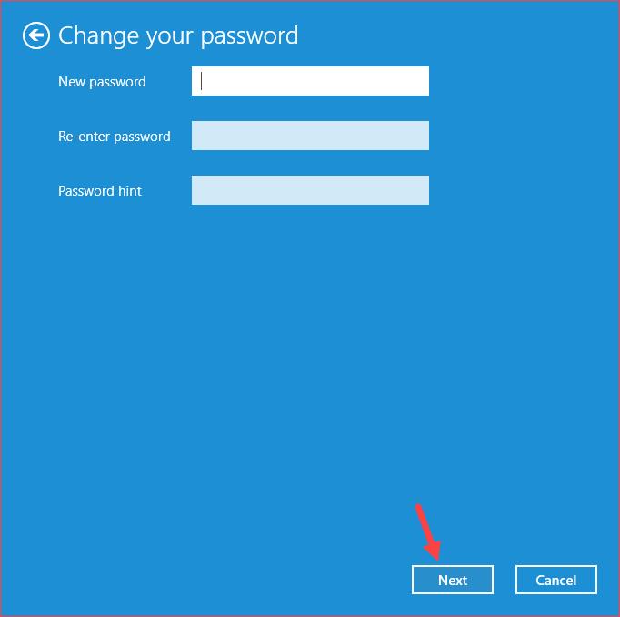 Bỏ qua ô password