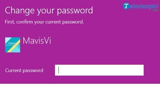 Điền mật khẩu hiện tại