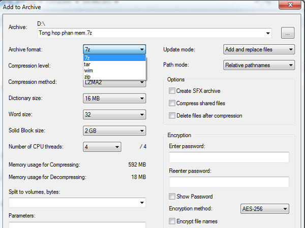 Cài thêm mật khẩu để tăng bảo mật cho file