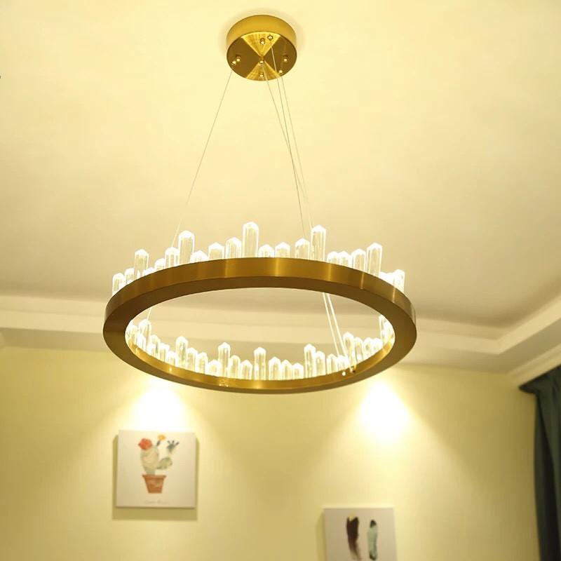 Đèn trang trí chao thủy tinh - Đèn Thả Trần - Đèn Trang Trí