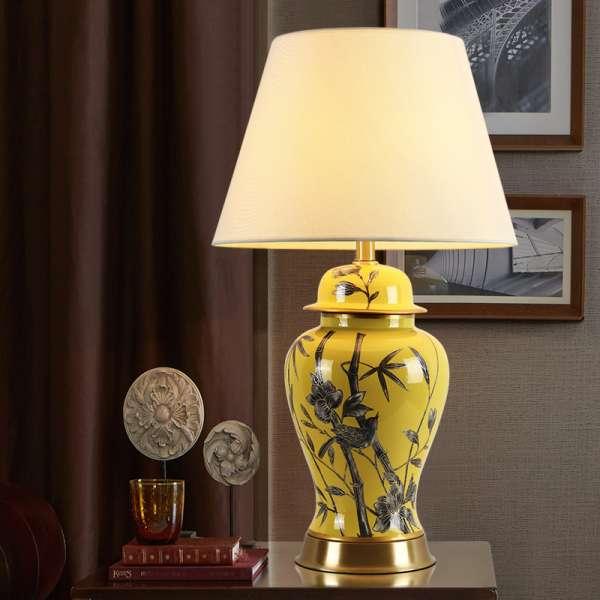 Đèn ngủ để bàn dễ thương gốm sứ HTB-34 - Đèn bàn dễ thương HTB-34- Đèn để bàn