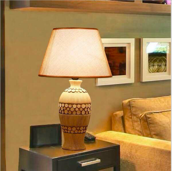 Đèn ngủ để bàn đẹp gốm sứ HT17- Đèn bàn