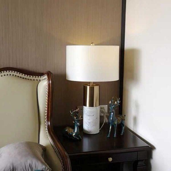 Đèn ngủ để bàn Black Gold cao cấp- Đèn bàn