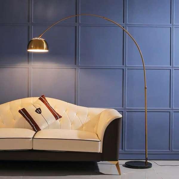 Đèn cây trang trí góc sofa phong cách châu Âu – Đèn cây đứng trang trí góc sofa đọc sách