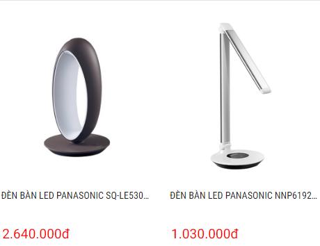 Đèn LED để bàn Panasonic, đèn để bàn LED, đèn bàn học sinh Panasonic giá khá cao
