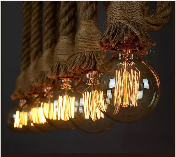 Đèn trang trí nhà hàng dây thừng - Đèn trang trí cho nhà hàng dây thừng