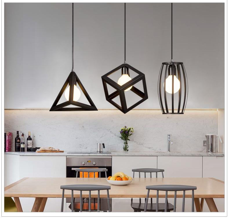 Đèn trang trí phòng bếp lập phương - Đèn bếp trang trí giá rẻ hình lập phương