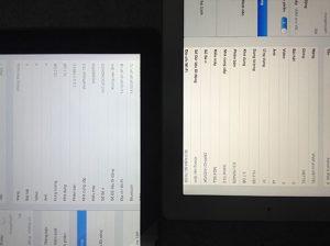 màn hình iPad mini bị vàng