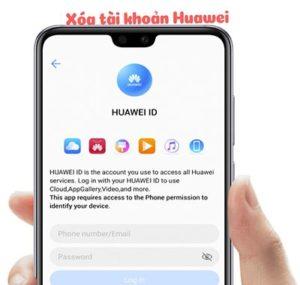 Delete account Huawei ID