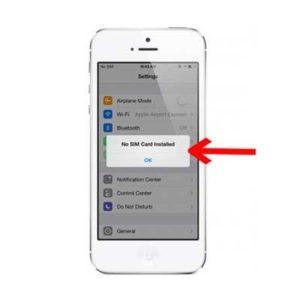 Fix iPhone 5, 5S not get sim