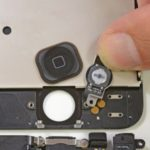 Replacement home button, power button iPhone 5, 5S