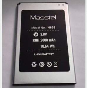 Replace the battery Masstel N668