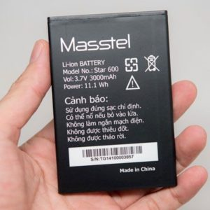 Replace the battery Masstel Star 500