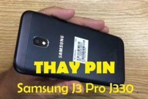 Change the battery Samsung J3, J3 Pro J330
