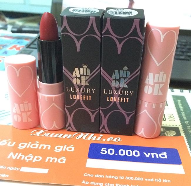 Amok Luxury Lovefit Lipstick( Khoảng 160 nghìn VNĐ)