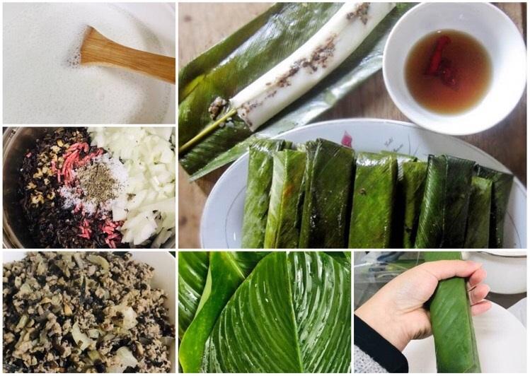 Cắn miếng bánh thơm mùi gạo tẻ, hòa quyện với hương thơm của hành khô, vị ngọt đậm đà của thịt băm, giòn dai sần sật của mộc nhĩ