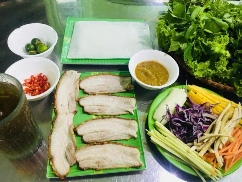Bánh Tráng Cuộn Thịt Heo Hoàng Diệu