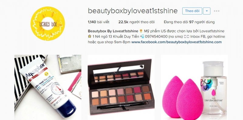 Instagram của Beauty Box by Loveat1stshine
