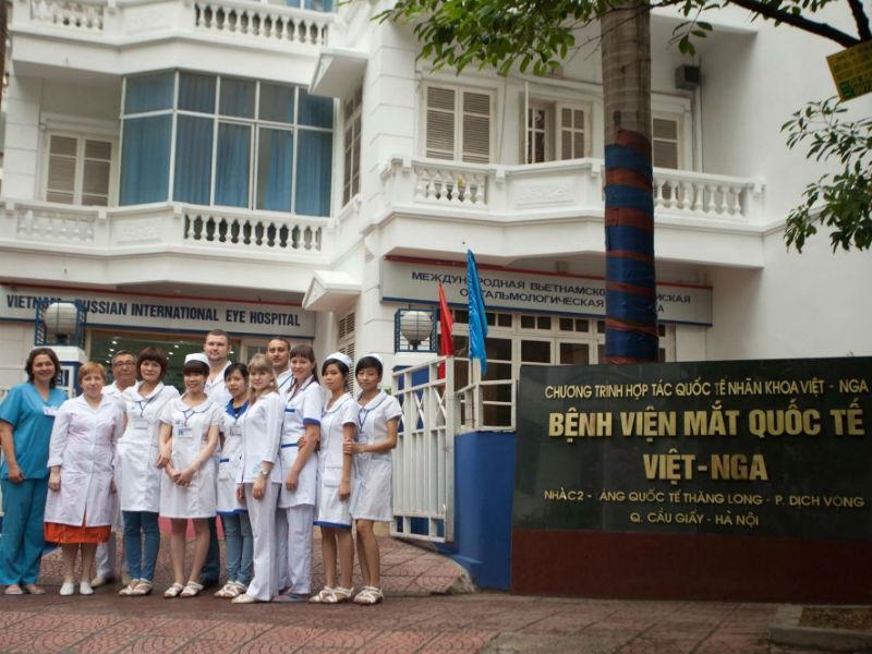 Đội ngũ nhân viên của bệnh viện mắt quốc tế Việt Nga