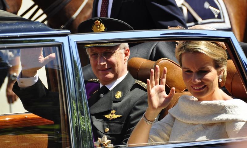 Nhà vua Philippe và hoàng hậu Mathilde
