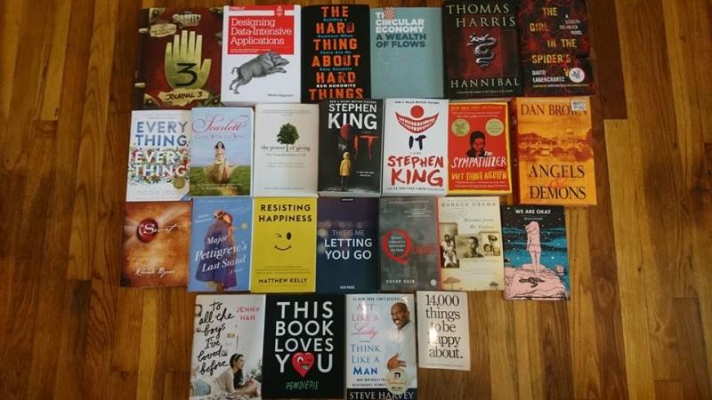 Một số đầu sách tại cửa hàng