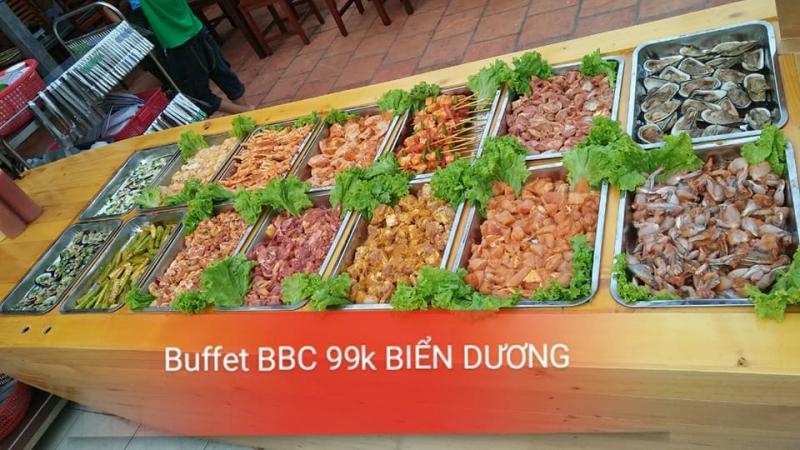 Buffet ngon hấp dẫn tại quán