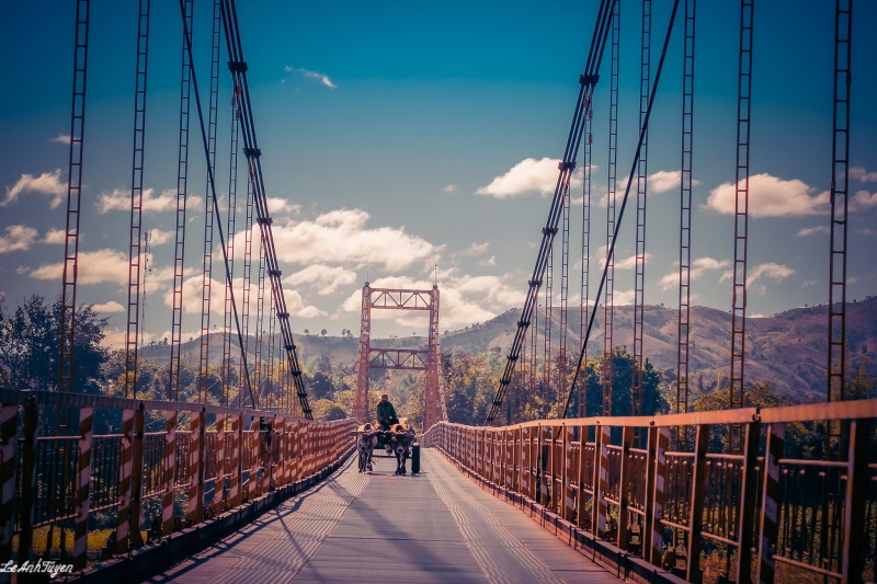 Đây là cây cầu sắt to và lớn nhất Tây Nguyên