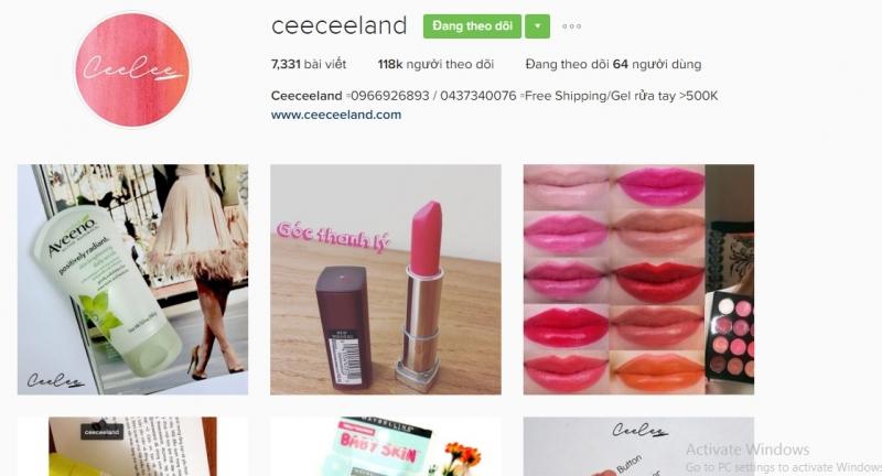 Instagram của Ceeceeland