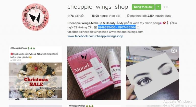 Instagram của Cheppie Wings Shop