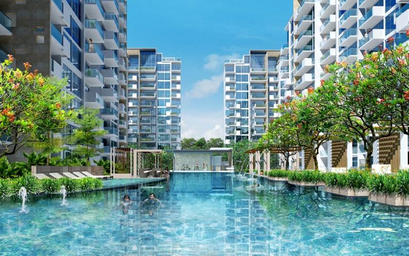 Phối cảnh của Khu chung cư cao cấp Mandarin Garden