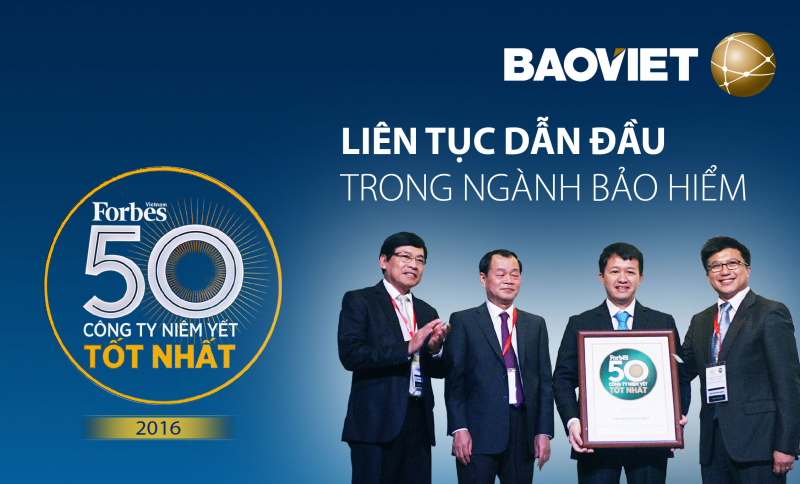 Bảo Việt dẫn đàu trong ngành bảo hiểm.