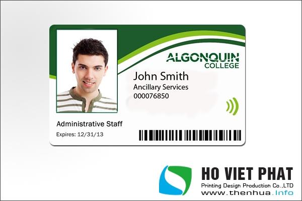 Thiết kế thẻ nhân viên