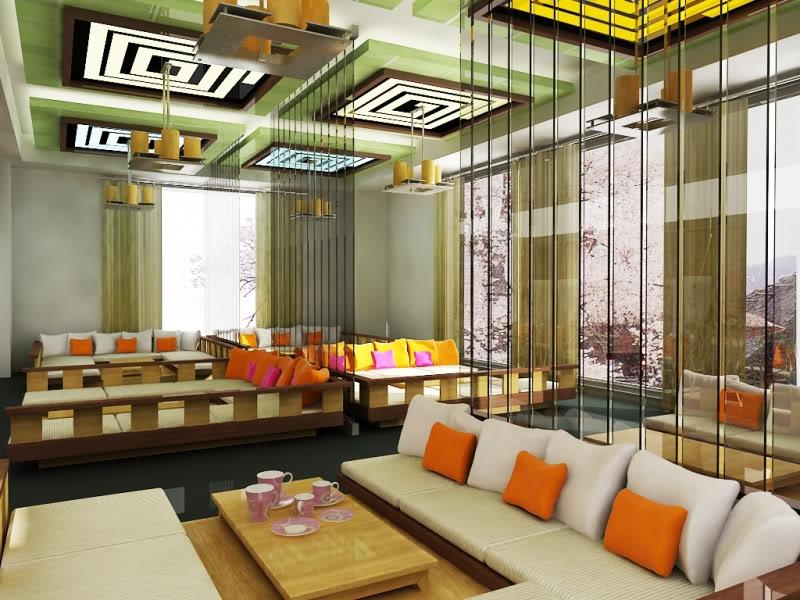 Mẫu thiết kế quán cafe mang nét tươi sáng