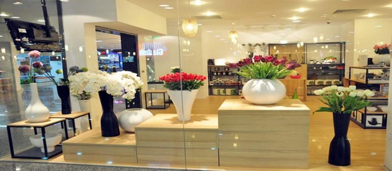 Không gian tại cửa hàng hoa giả Hải Phòng