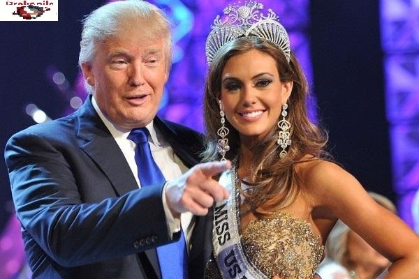 Donald Trump bên Hoa hậu Mỹ