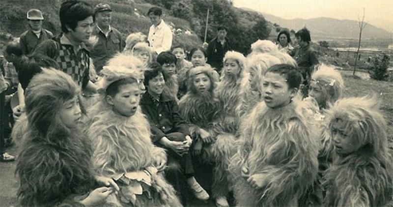 Bầy khỉ con ở Hoa Quả Sơn